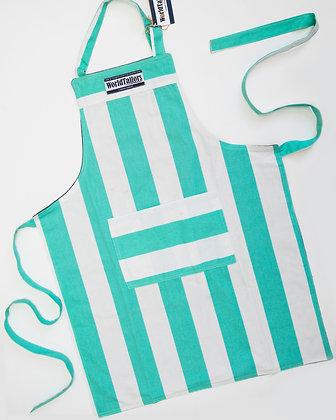 Fresh Green Stripe Master Cook Apron
