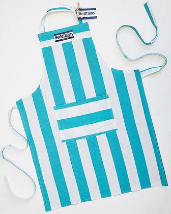 Light Blue Stripe Master Cook Apron_