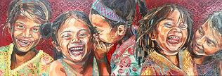 Els Knockaert - Les filles du soleil 120x40cm - Arts Evasion