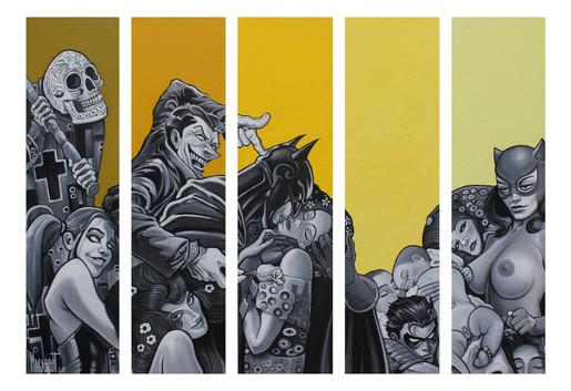 Vie et Mort à Gotham City (DC x Klimt)