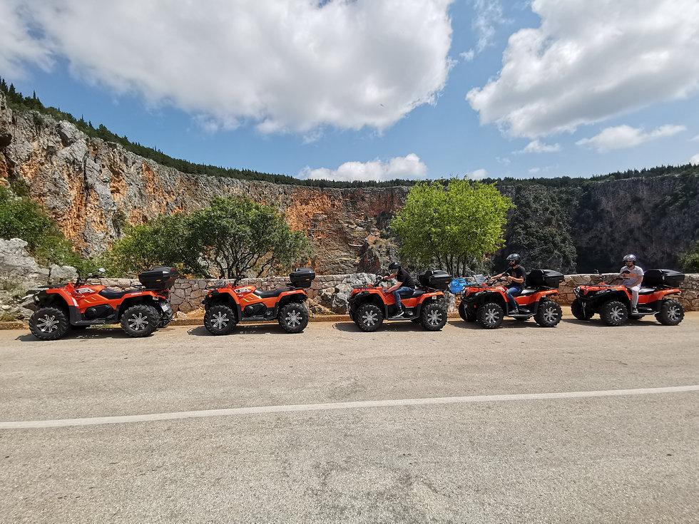 QUAD BIKES ON RED LAKE IN IMOTSKI, DALMATIA, CROATIA