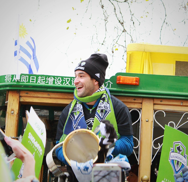 Nicolás Lodeiro holds the MLS Cup