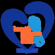 Blue with Orange Text Logo Transparrant