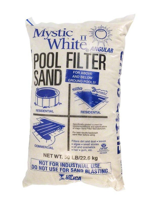 Sand For Filter WHITE #20 Silica 50 lbs