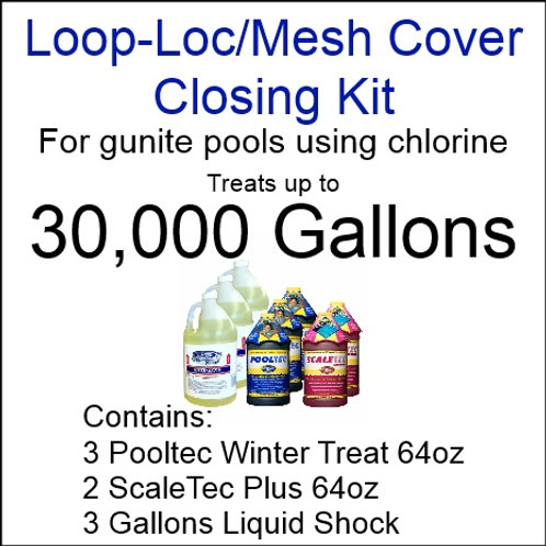 Pooltec Kit 30,000gal - Gunite Pool with Chlorine