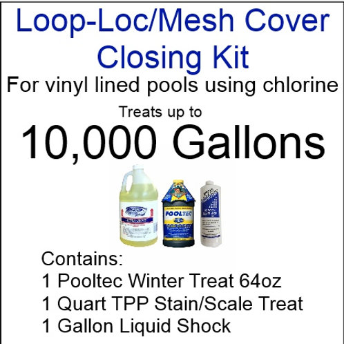 Pooltec Kit 10,000gal - Vinyl/Fiberglass Pool with Chlorine