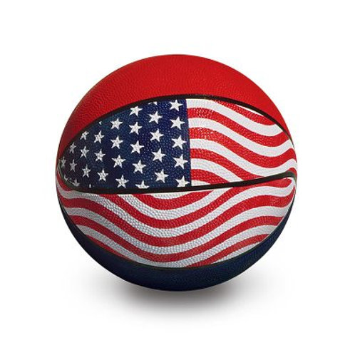 Red White and Blue Basketball  9""