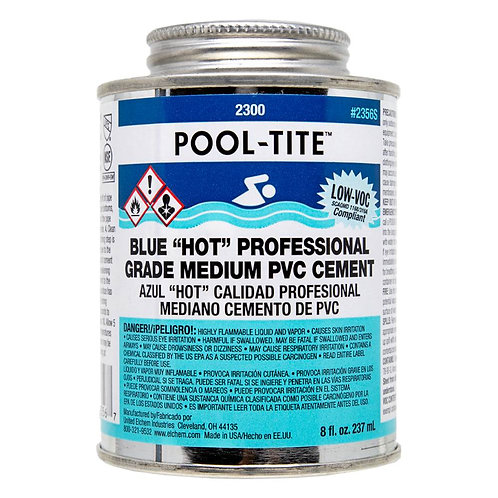 "Blue ""Hot"" Professional Grade Medium PVC Cement 4oz"