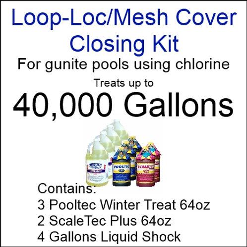 Pooltec Kit 40,000gal - Gunite Pool with Chlorine