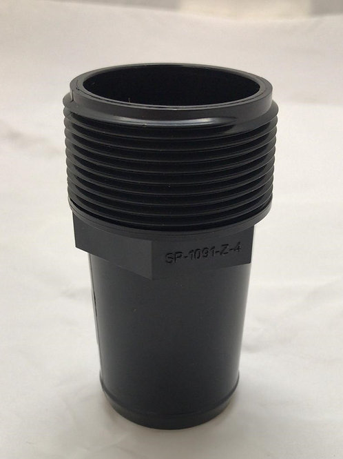 """1.5"""" Smooth x Male Thread Hose Adapter"""