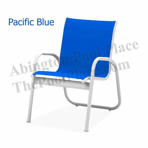 Gardenella Gloss White Frame Pacific Blue Sling