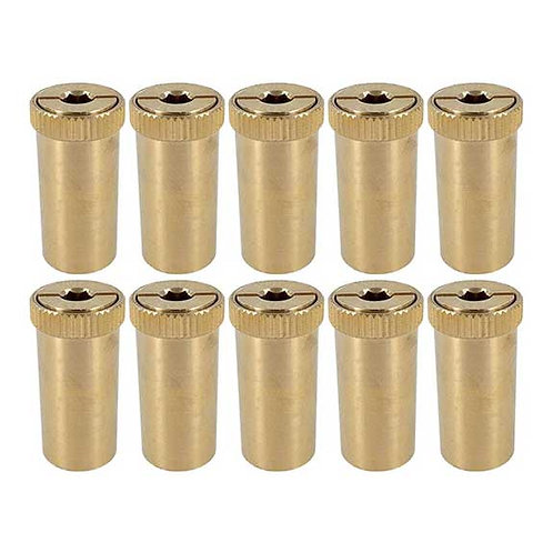 10 Pack of Loop-Loc Brass Anchors