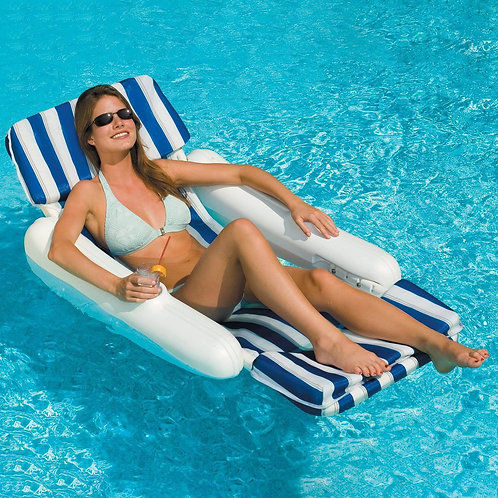 Swimline Molded Floating Lounge with Pad