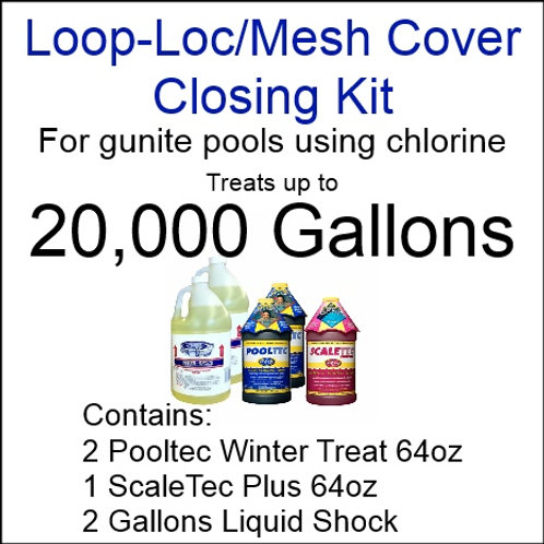 Pooltec Kit 20,000gal - Gunite Pool with Chlorine