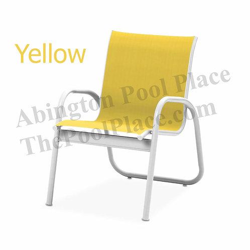Gardenella Gloss White Frame Yellow Sling
