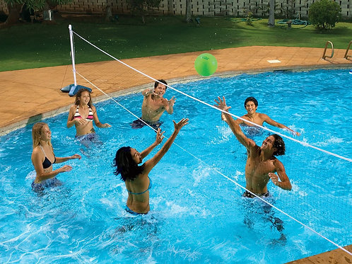 Across Swimming Pool Volleyball and Badminton Game Combo