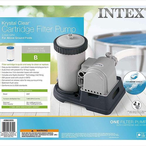 Intex Krystal Clear Cartridge Filter Pump 1900 GPH