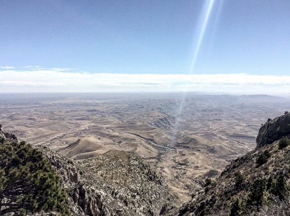 Guadalupe Peak view of the desert floor
