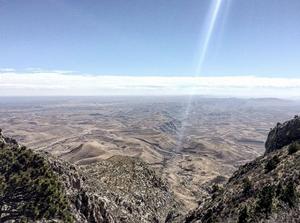 Guadalupe Peak view of the desert floor