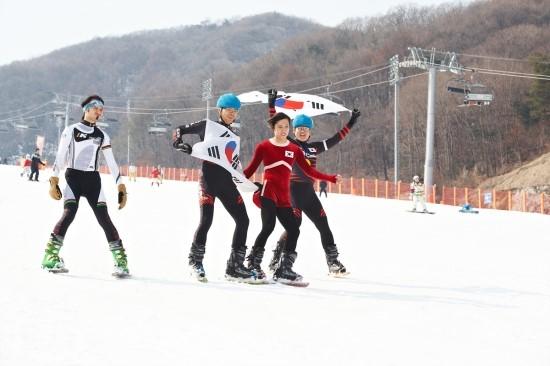 김연아와 쇼트트랙 퍼포먼스 미국 오노