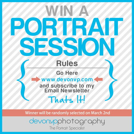 Win a Portrait Session! Just for Subscribing!