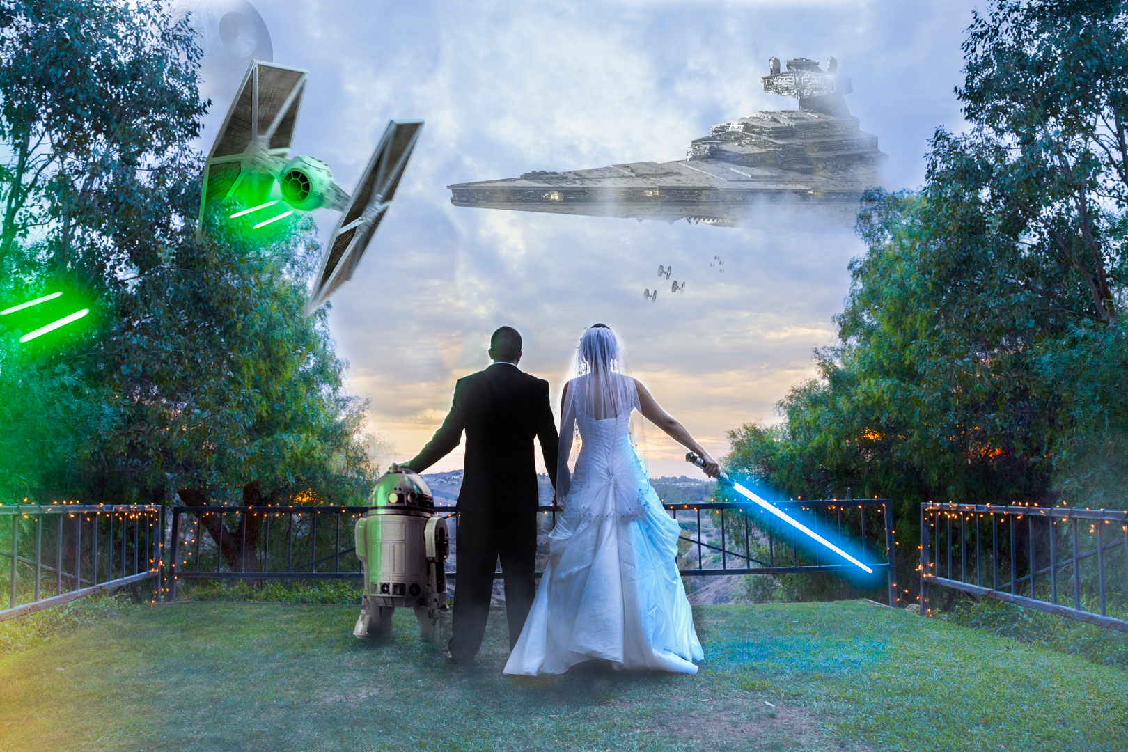 wedding photography star wars