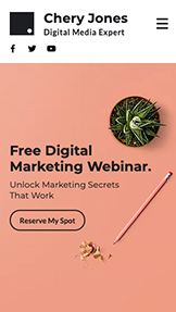 NEW! website templates – Webinar Landing Page