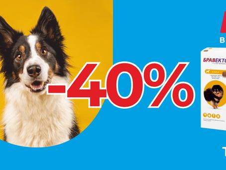 СКИДКА 40% НА БРАВЕКТО!