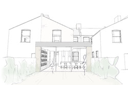 side and rear extension sketch