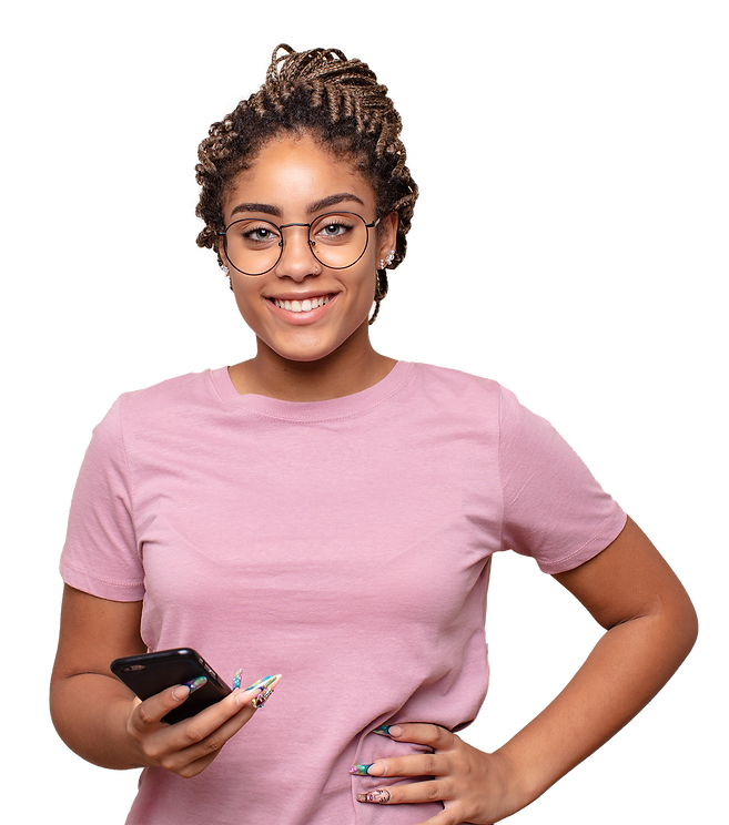 young-afro-woman-smiling-happily-with-ha