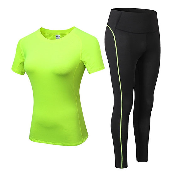 Sports Running Gym Top +Leggings Set