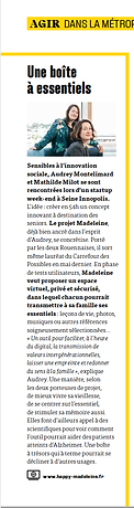 Article Projet Madeleine ROUENMAG JUILL