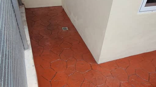Coloured Concrete Imprint Flooring