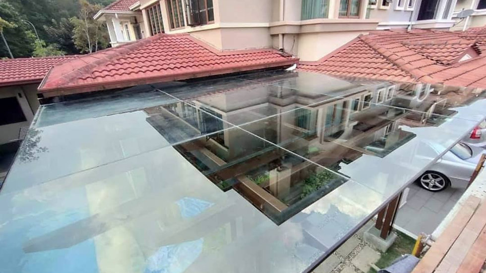 Laminated/Tempered Glass Panel Awning/Roofing