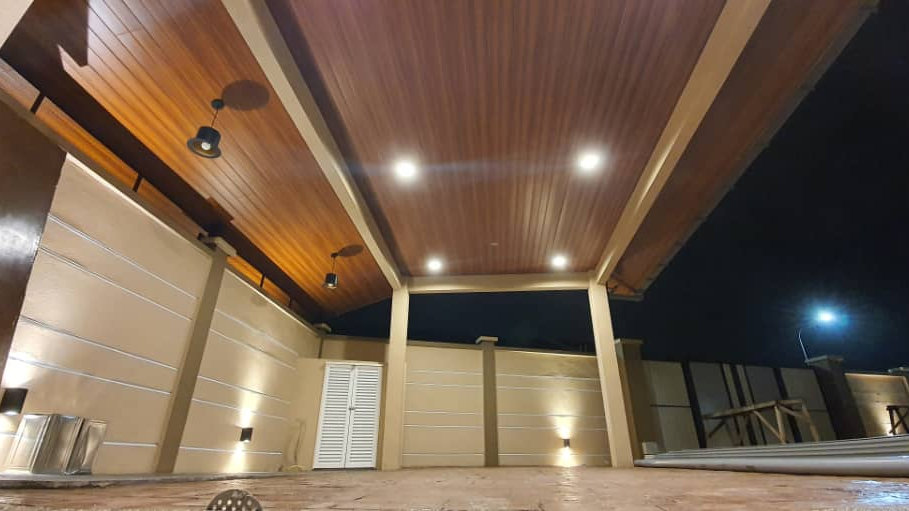 Indoor/Outdoor PVC Strip Ceiling Supply and Installation
