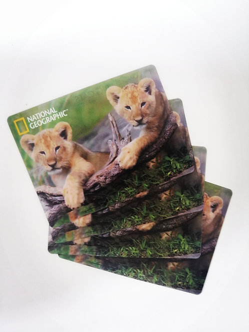 National Geographic Lion Cubs Super 3D Collectable Postcard