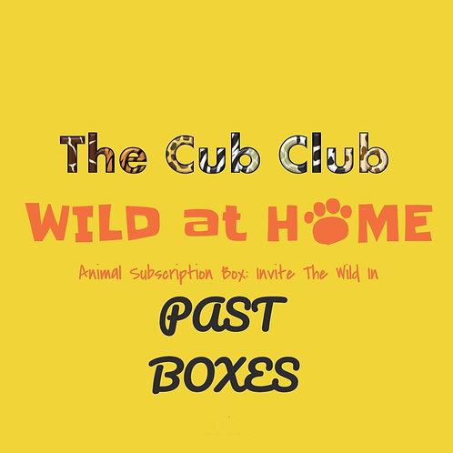 The Cub Club Tiny Zoologist PAST Boxes