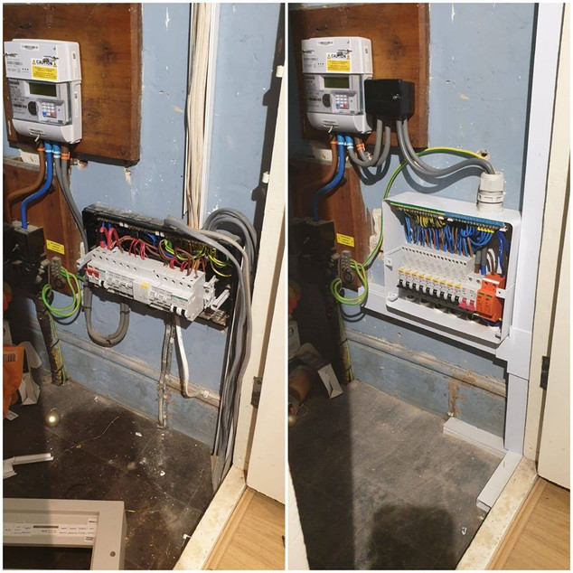 Consumer unit - Before and After
