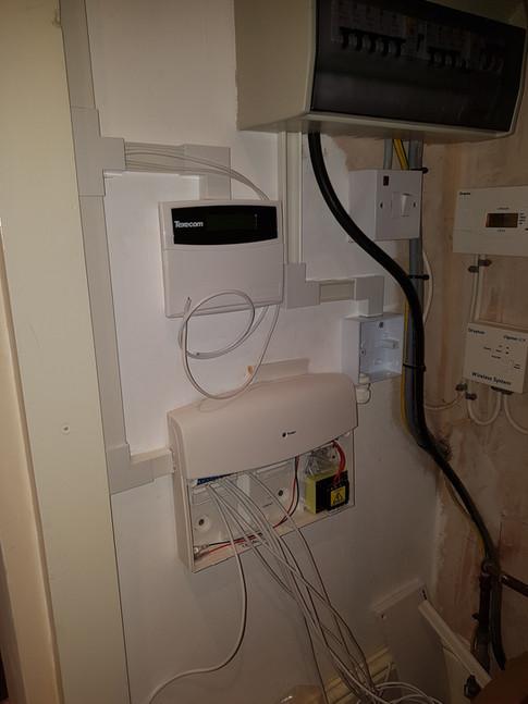 Wired alarm installation