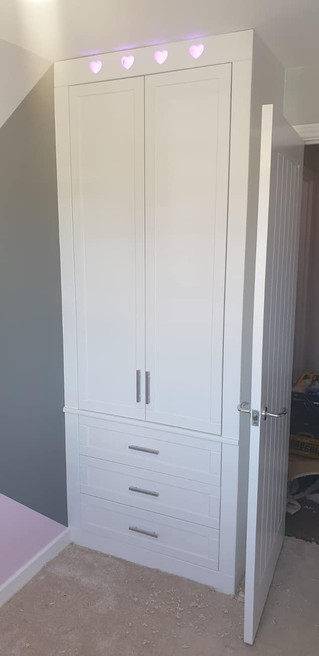 Built in wardrobe with light strip