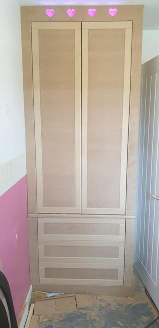 Built in wardrobe with lightstrip