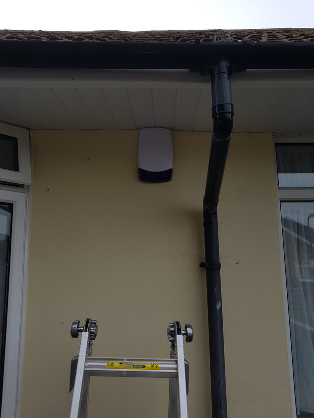 Wired alarm installation