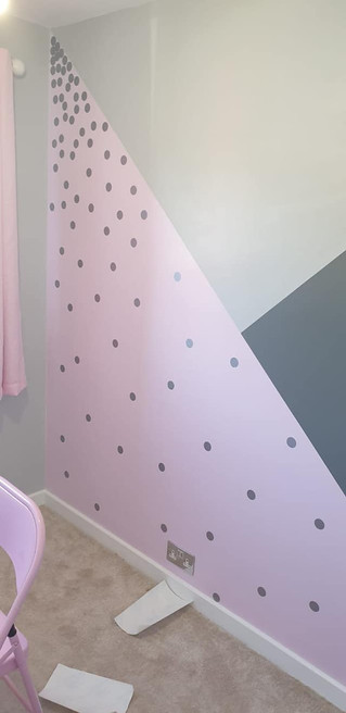 Feature wall painted