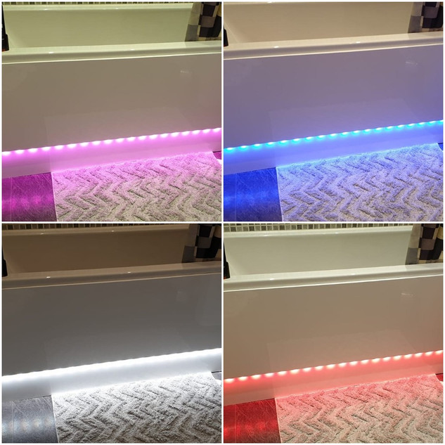 LED Light strip added to bath panel
