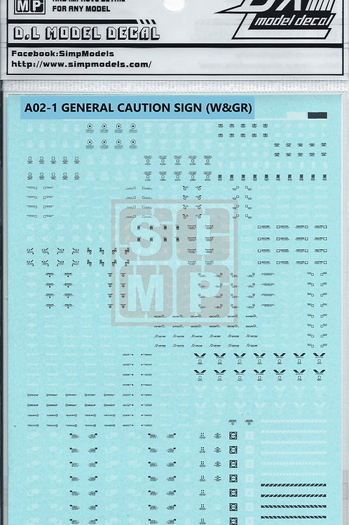 A02-1 General Design Warning Decal (1/144)