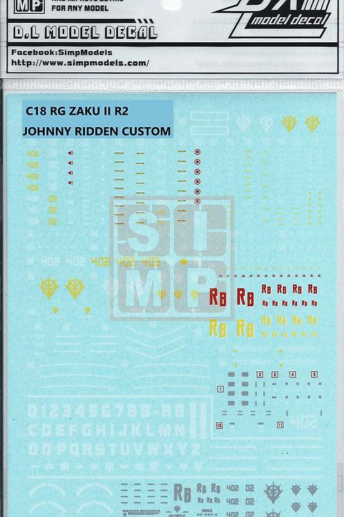 C18 RG 1/144 Zaku II R2 Johnny Ridden Custom