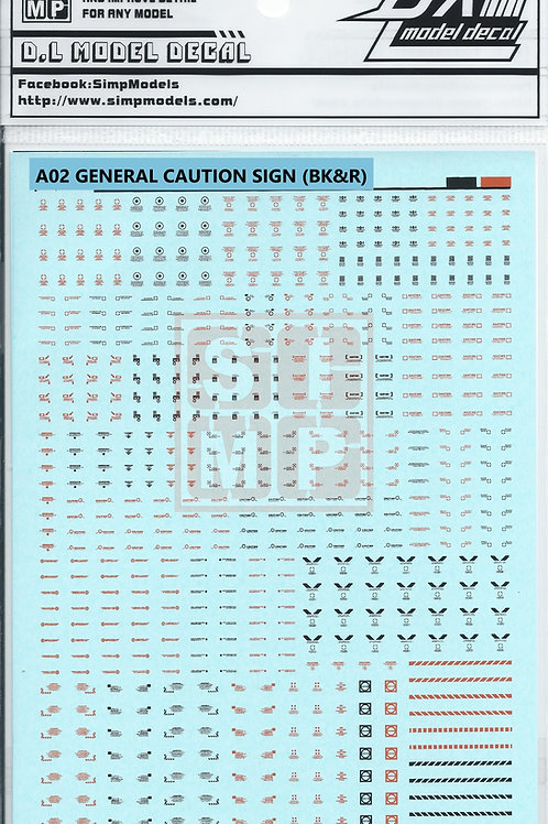 A02 General Design Warning Decal (1/144)