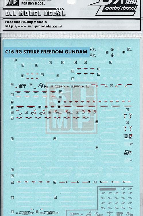 C16 RG 1/144 Strike Freedom Gundam