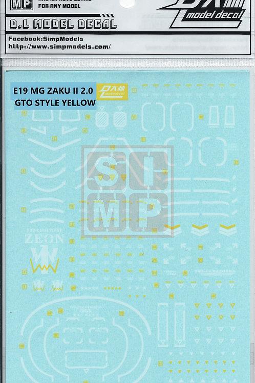 E19 MG 1/100 Zaku II 2.0 (GTO Style Yellow)