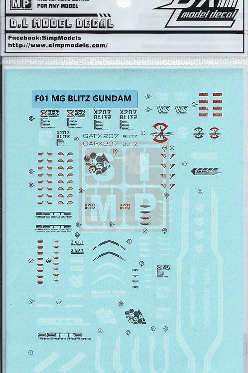 F01 MG 1/100 Seed Blitz Gundam